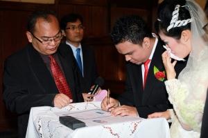 Penandatanganan Akte Nikah